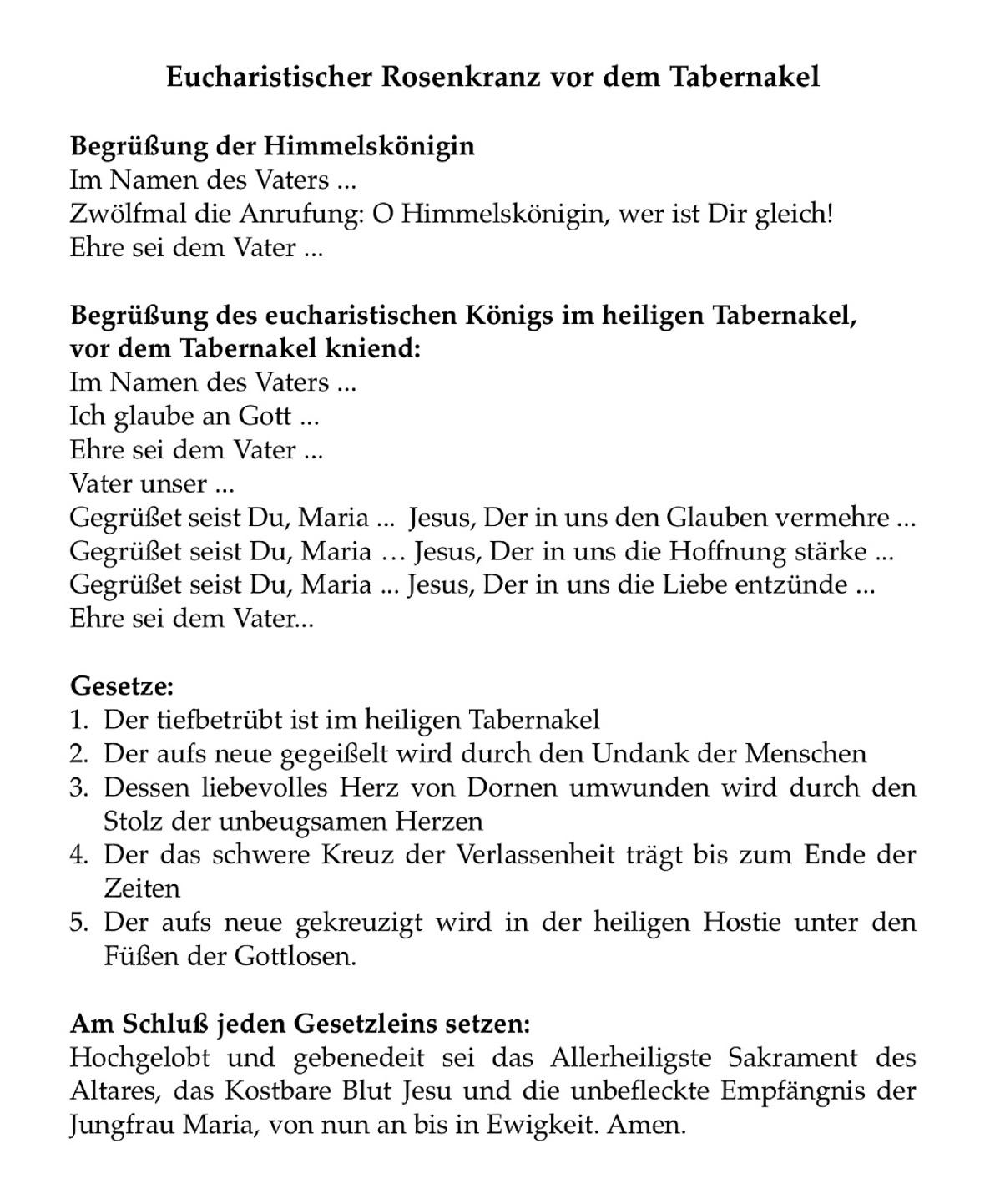 Rosenkranz Text